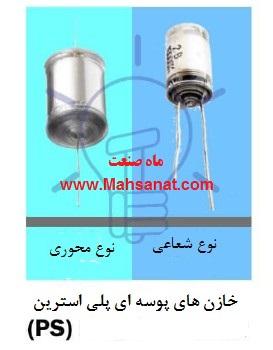 خازن های پوسته ای پلی استرین(PS)