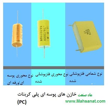 خازن های پوسته ای پلی کربنات (PC)
