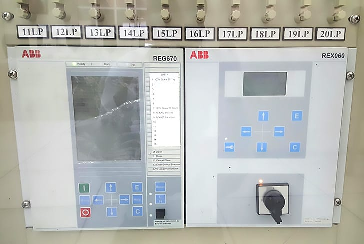 شکل 6 - رله حفاظت ژنراتور ABB IED REG670
