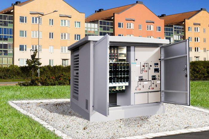 شکل 3- پست فشرده (عکس تابلو ولتاژ متوسط عایق بندی شده با گاز برای واحد ثانویه تا 24 کیلوولت)
