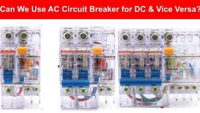 Photo of آیا میتوان از کلید های حفاظتی برای مثال کلید مینیاتوری مدار AC برای مدار DC و برعکس استفاده کرد؟