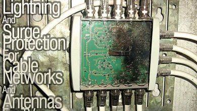 تصویر مکانیزمهای حفاظت-حفاظت صاعقه برای کابل آنتن و شبکه
